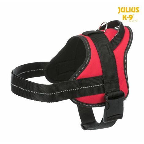 Julius-k9® harnais pure - 0/M-L: 58-76 cm/30 mm, rouge