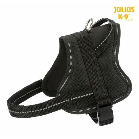 Julius-k9® harnais pure - mini-mini/S: 40-53 cm/22 mm, noir