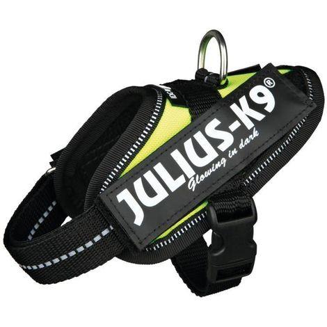 JULIUS-K9 Harnais Power IDC Baby 1XS- 29-36cm jaune fluo compatible avec chien