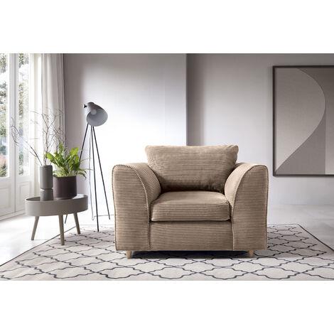 Jumbo Cord Armchair - Brown - color Brown