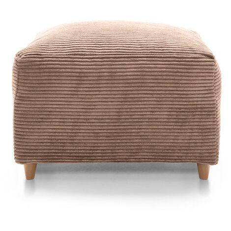 Jumbo Cord Footstool Brown - color Brown