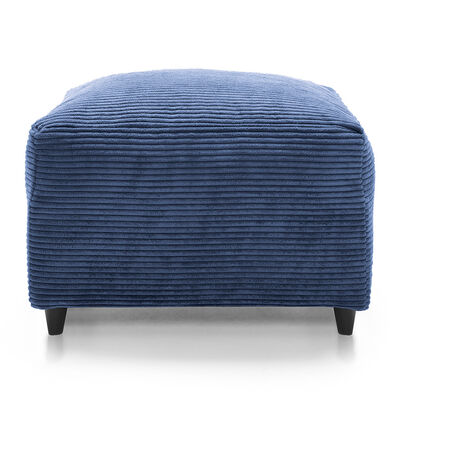 Jumbo Cord Footstool - color Blue