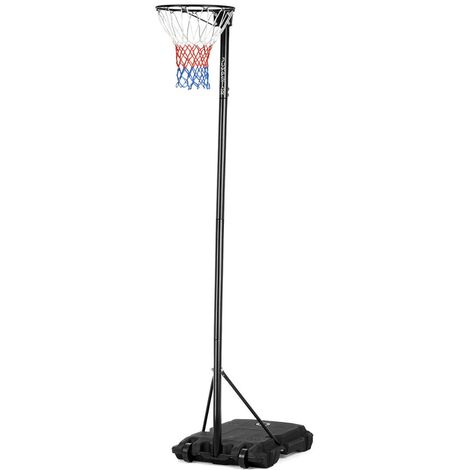 JumpStar Sports Portable Height-Adjustable Netball Stand & Hoop 10ft