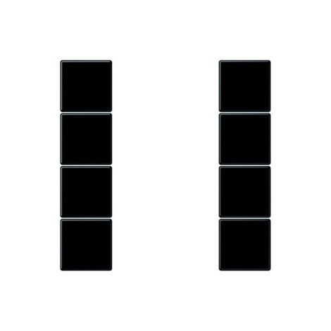 Jung LS504TSASW LS990 Vierteilige Taste, Schalter/Taster, schwarz, matt,  ohne ISO Aufdruck, geeignet für Bussystem-Tasterankopplung