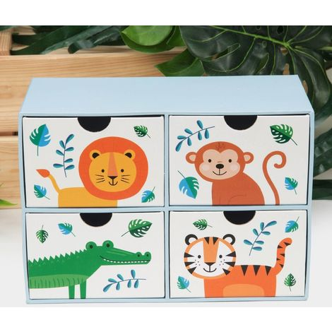 Jungle Baby Paperwrap 4 Drawer Storage Box