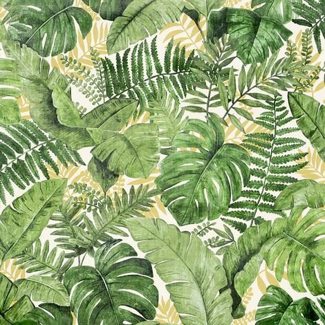 Jungle Canopy Wallpaper Arthouse Tropical Palm Green Ochre White Paste The Wall