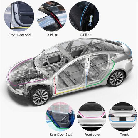 Junta de la puerta 11pcs auto universal del kit del coche adhesivo de insonorizacion de Gaza Burlete viento de reduccion de ruido Kit de Tiempo Proyecto de sello de Gaza