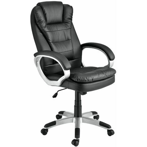 Juskys Bürostuhl Chefsessel Orlando mit Rückenlehne & Armlehnen ergonomisch höhenverstellbar gepolstert Schreibtischstuhl Drehstuhl PC Gaming Stuhl