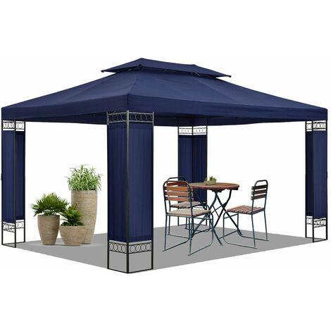 "main image of ""Juskys Pavillon Capri 3x4 m   Partyzelt mit Metall Gestell & doppeltem Dach   3 Farben   Festzelt Gartenpavillon"""