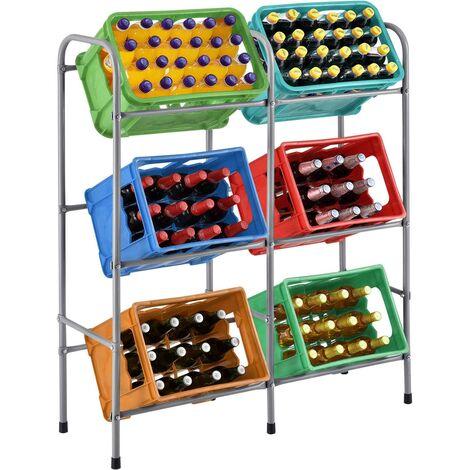 Juskys Getränkekistenregal Cool Für 6 Kisten Metall 3