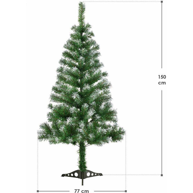 Weihnachtsbaum Tannenbaum.Juskys Künstlicher Weihnachtsbaum Tannenbaum 150 Cm Grün Mit Schnee Inkl Ständer