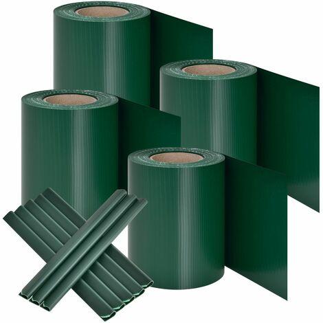 Juskys PVC Sichtschutzstreifen 4er Set grün anthrazit Sichtschutz Sonnenschutz Windschutz