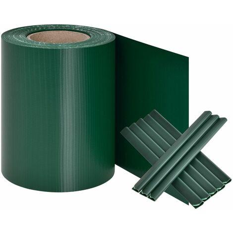 Juskys PVC Sichtschutzstreifen Zaunfolie 35 m in anthrazit und grün