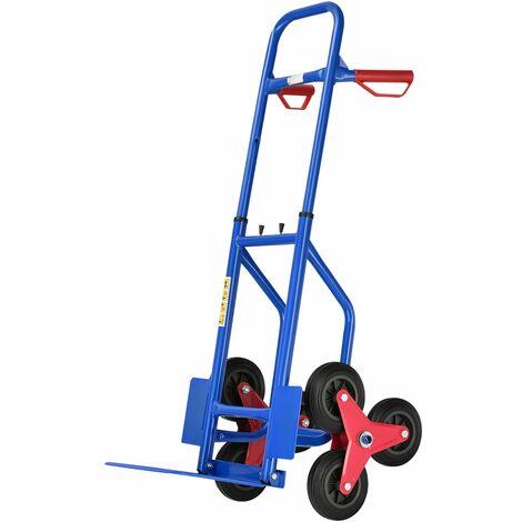 Juskys Treppensackkarre klappbar | 200 kg belastbar | Hartgummireifen | Kunststoff Griffe | Stahl