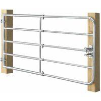 Juskys Weidezauntor Gartenzaun SafeGate S aus verzinktem Stahl, Scharniere & Riegel 170 x 90 cm