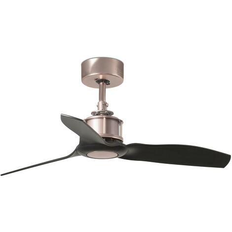JUST FAN Ventilateur de plafond cuivre et pâles noir 81cm de CONILLAS