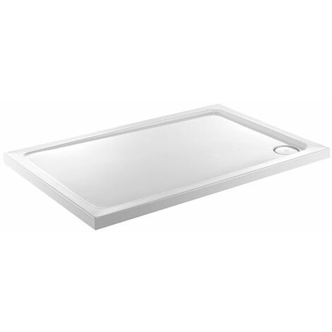 Just Trays Fusion Rectangular Flat Top Anti-Slip Shower Tray