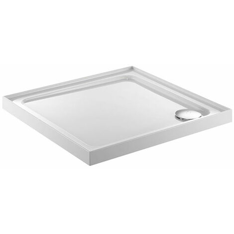 Just Trays JT Fusion Square Anti-Slip Shower Tray with Waste 760mm x 760mm 4 Upstand