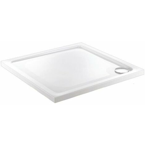 """main image of """"Just Trays JT Fusion Square Anti-Slip Shower Tray with Waste 1000mm x 1000mm Flat Top"""""""