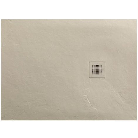 Just Trays Softstone Rectangular Shower Tray with Waste 1000mm x 900mm - Cream Slate