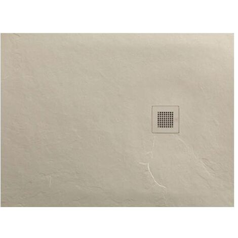 Just Trays Softstone Rectangular Shower Tray with Waste 1200mm x 800mm - Cream Slate