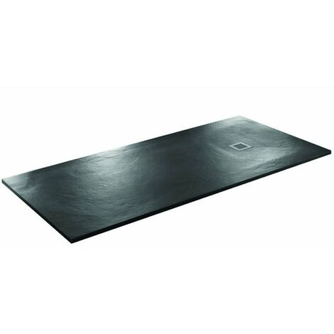 Just Trays Softstone Rectangular Shower Tray with Waste 1400mm x 900mm - Black Slate
