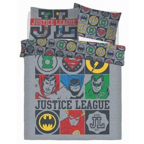 Justice League Vintage Icons Reversible Duvet Set