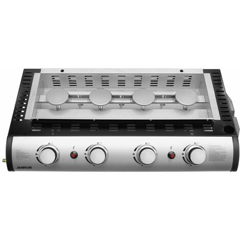 "Justus Plancha-Grill ""Grilleau 4"" silber 4 Brenner"