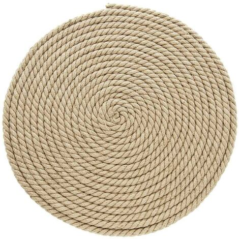 Jute carpet for cats to scratch round