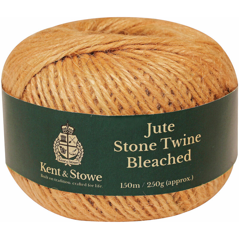 Image of Kent & Stowe 70100830 Jute Twine Bleached Stone 150m (250g)