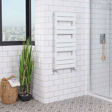 "main image of ""Juva White Flat Panel Heated Towel Rail"""