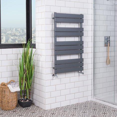 "main image of ""Juva Chrome Flat Panel Heated Towel Rail"""