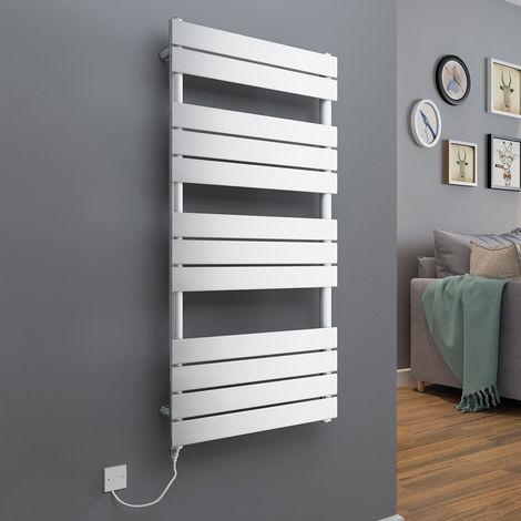 "main image of ""Juva Flat Panel Heated Towel Rail + Thermostatic & Manual Elements"""