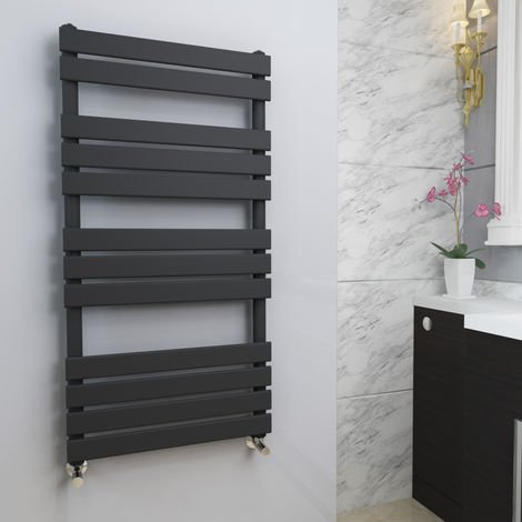 Juva 1200 x 600mm Sand Grey Flat Panel Heated Towel Rail