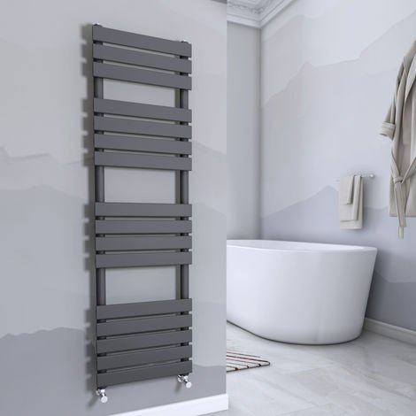 Juva 1600 x 450mm Sand Grey Flat Panel Heated Towel Rail