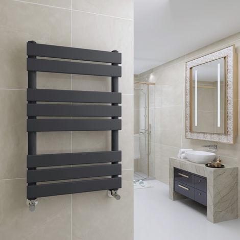 Juva 800 x 500mm Sand Grey Flat Panel Heated Towel Rail