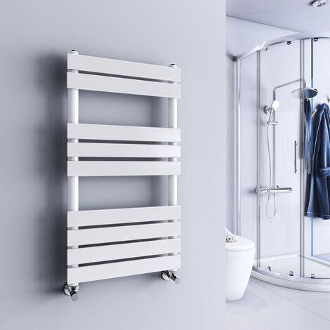 Juva 950 x 500mm White Flat Panel Heated Towel Rail