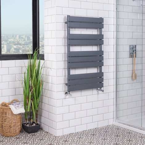 Juva Chrome Flat Panel Heated Towel Rail
