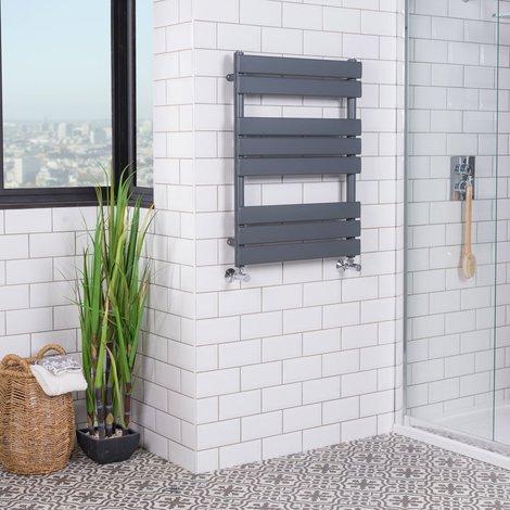 Juva Chrome Flat Panel Heated Towel Rail