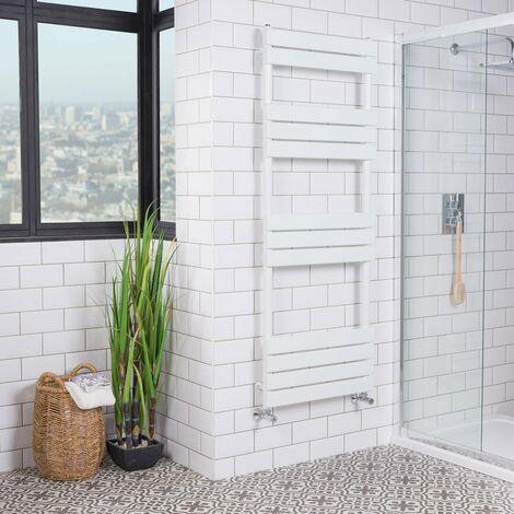 Juva Sand Grey Flat Panel Heated Towel Rail