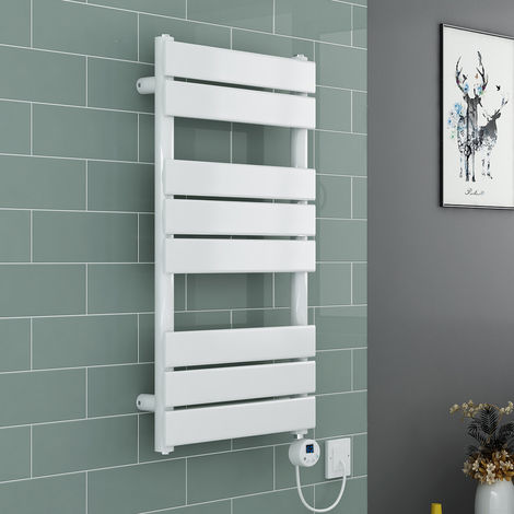 Juva Towel Radiator Thermostatic LCD White Electric Element