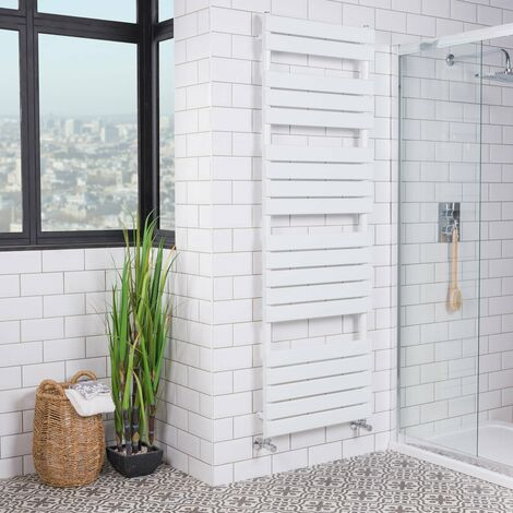 Juva 1800 x 600mm White Flat Panel Heated Towel Rail - please select - please select