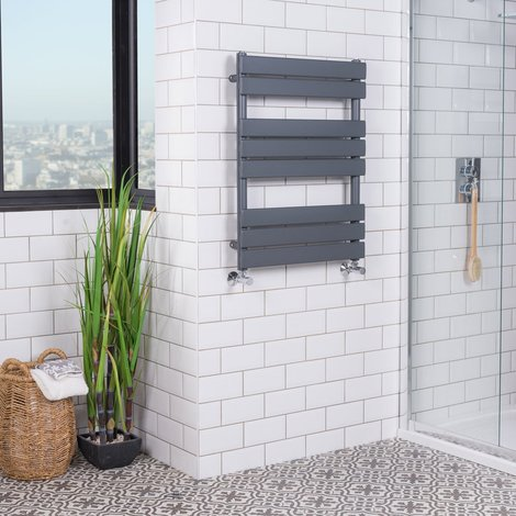 Juva White Flat Panel Heated Towel Rail