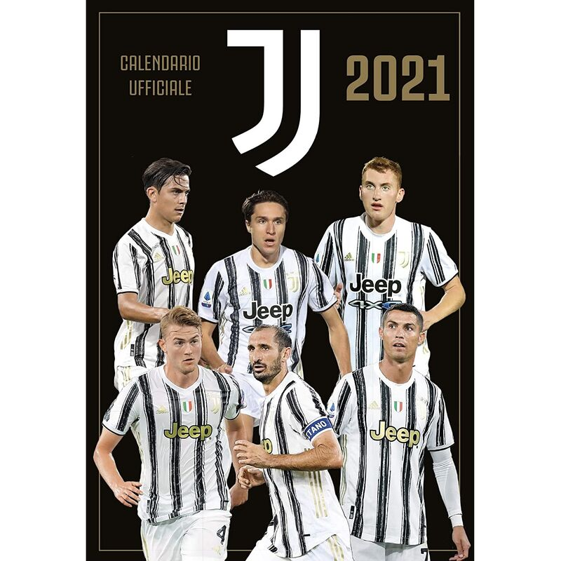 Image of 2021 A3 Wall Calendar (A3) (Black/White) - Juventus Fc