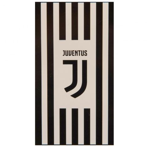 Juventus FC Stripes Towel (One Size) (Black/White)
