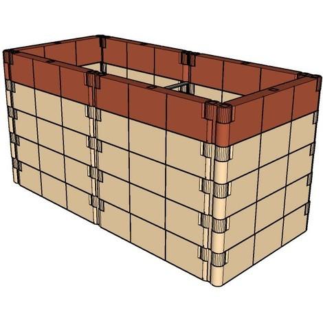 JUWEL Kit de construction de jardin basalte (130x60x13cm)