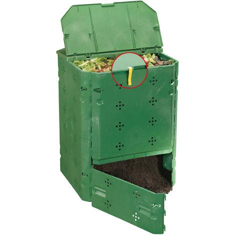 Juwel Kompostbehälter Komposter mit Deckel BIO 600, 77x77x100 cm, Bio-Abfälle