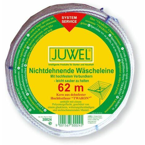 Juwel Wäschespinnen Wäscheleine 62 Meter dehnfrei hoch belastbar Trockenleine