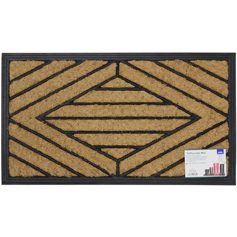 JVL Comfort Scraper Coir Rubber Entrance Door Mat, 40 x 70 cm