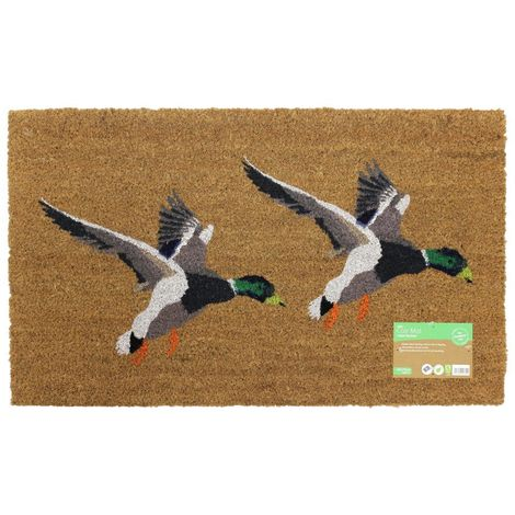 JVL Country Animal Themed Latex Backed Coir Entrance Door Mat